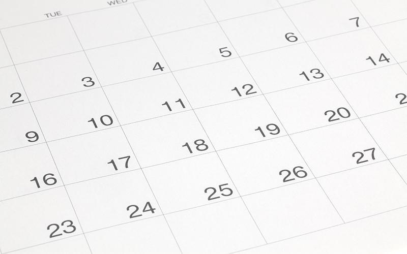 calendrier d'entretien